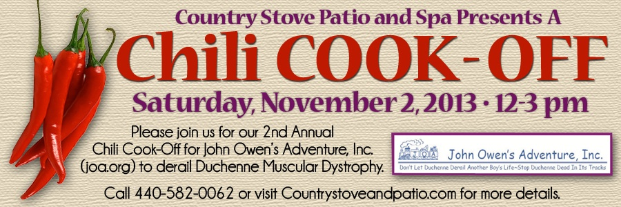 Country Stove Patio Spa Chili Cook Off 2013