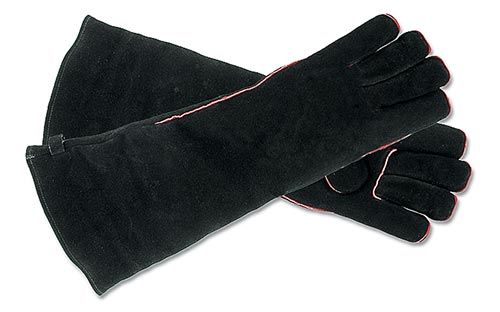 Extra Long Leather Fireplace Gloves