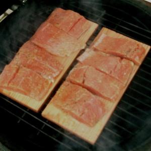 Big Green Egg Grill Planks Salmon