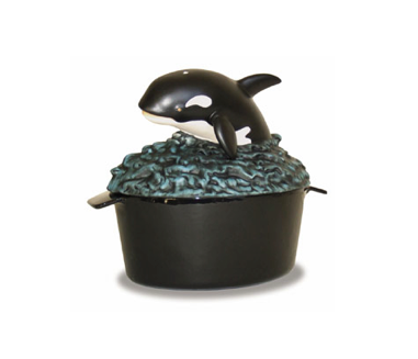 Cast Iron Orca Fireplace Steamer