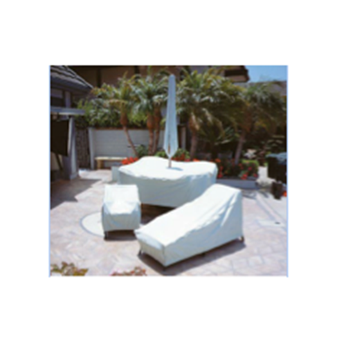 48 Round Table And Chair Cover With, Round Patio Furniture Covers With Umbrella Hole