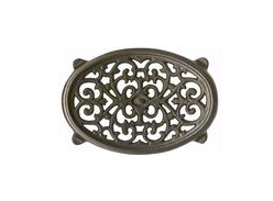 Small Oval Black Fireplace Trivet