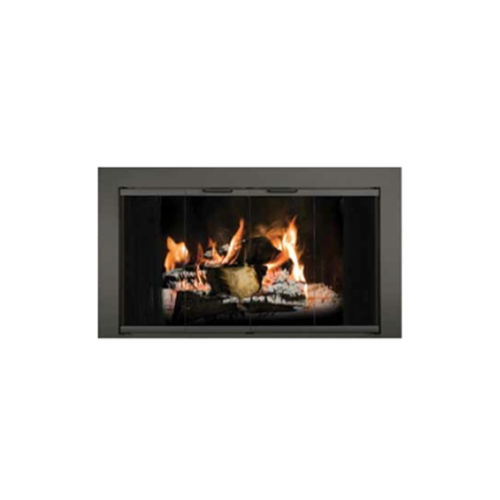 Reserve Fireplace Glass Doors With Mesh Curtain