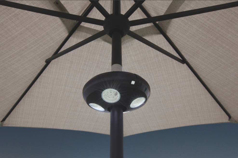 patio umbrella lights vega led outdoor umbrella lighting