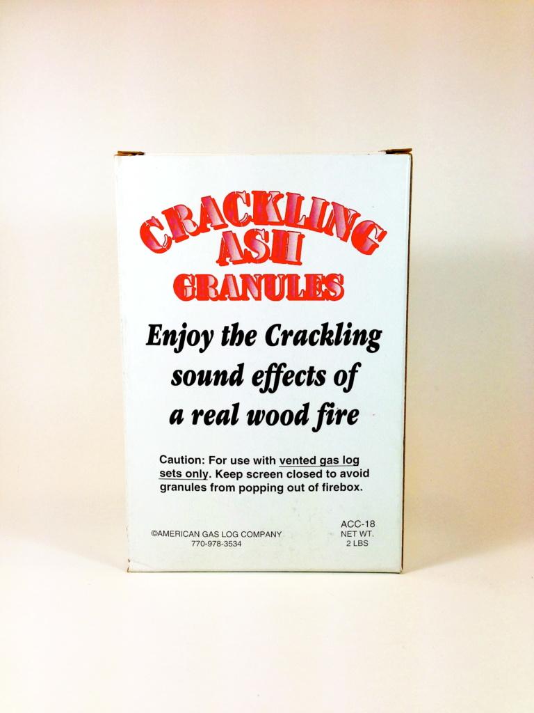 Vented Gas Logs Crackling Ash Granules