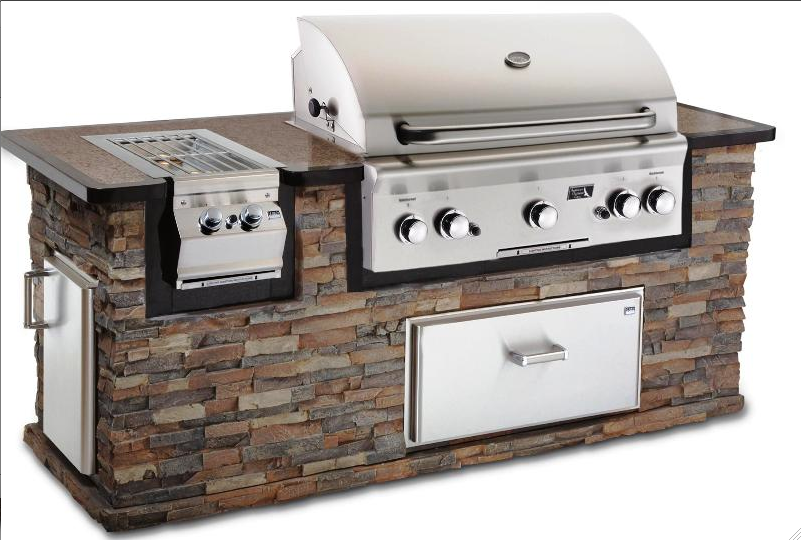 Outdoor grill islands outdoor kitchens cleveland ohio for Gas grill tops outdoor kitchen