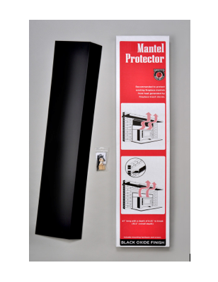 $44.99 The Mantel Protector Heat Shield protects existing fireplace mantels from heat generated by fireplaces