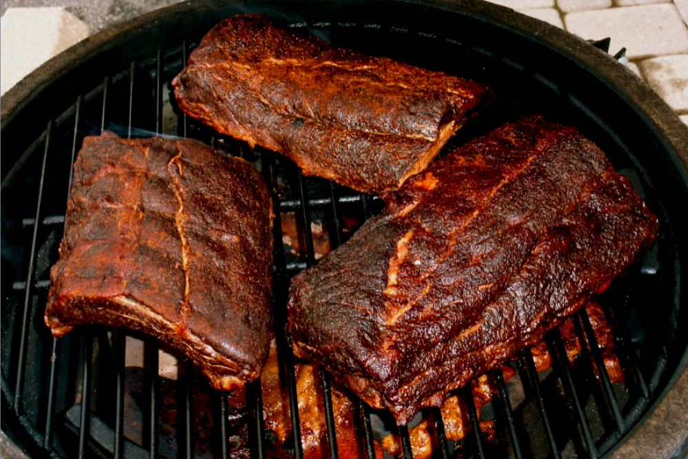 Smoked Bbq Ribs Big Green Egg Smoker