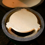 Mini Big Green Egg Plate Setter with OLD Fire Ring