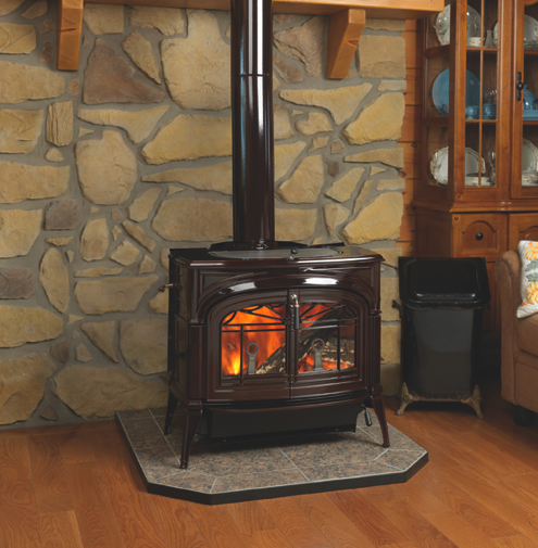 Vermont castings encore flexburn country stove patio and spa for Wood burning stove for porch