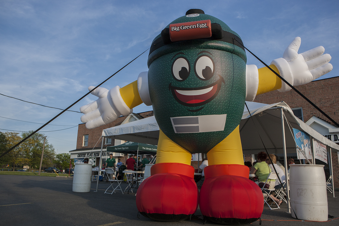 North Coast EGGfest Big Green Eddie at Country Stove Patio & Spa