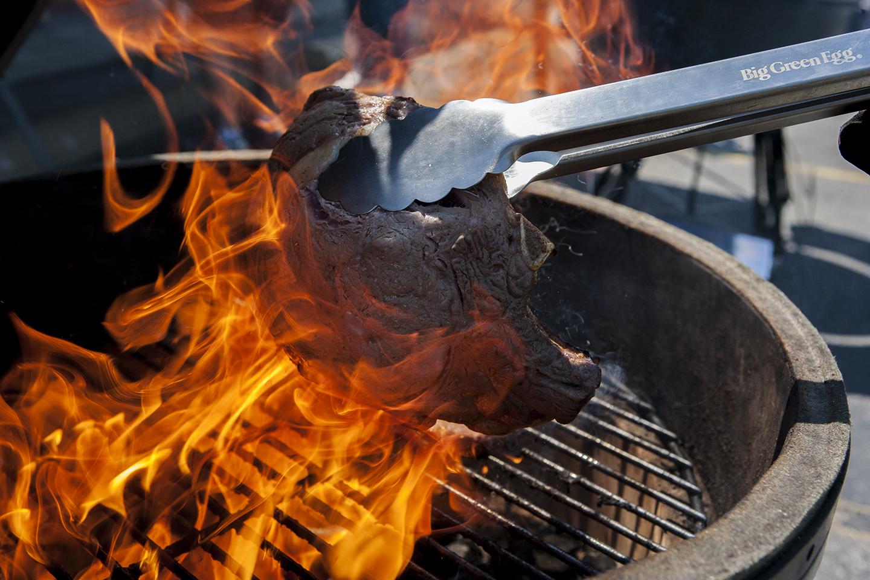 North Coast EGGfest Searing Ribeye Steaks