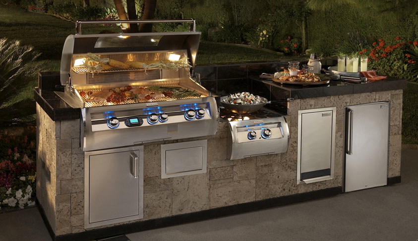 Outdoor grill islands outdoor kitchens cleveland ohio for Outdoor kitchen barbecue grills