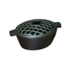 2 Quart Matte Black Lattice Wood Stove Steamer