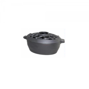 Matte Black Lattice Wood Stove Steamers