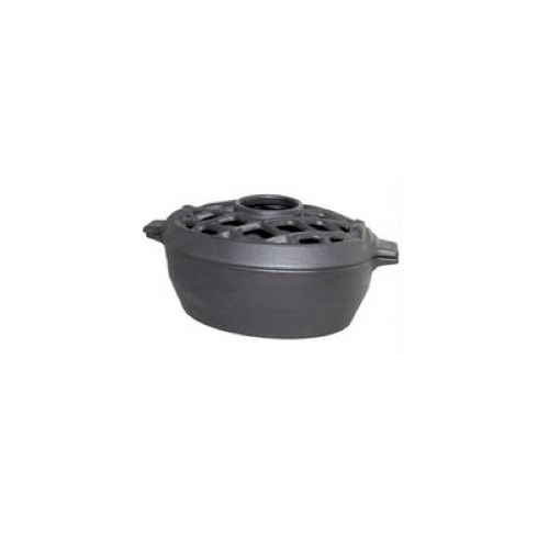 3 Quart Matte Black Lattice Wood Stove Steamer