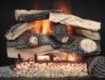 Split Rustic Oak Vented Gas Log Set