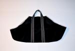 Black Canvas Tote Log Carrier