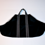 Black Canvas Tote Log Carrier