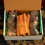 Holiday Fireplace Gift Box
