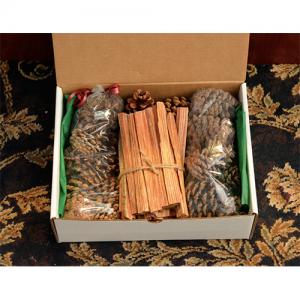 Holiday Fireplace Gift Box