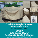 Patio Furniture Covers | 2XL Oval Rectangle Table Cover