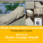 Patio Furniture Covers | Small Chaise Lounge Cover