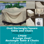Patio Furniture Covers | XL Oval Rectangle Table Cover