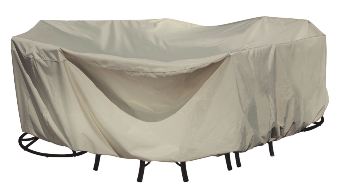 Xl oval or rectangle table cover country stove patio and spa for Patio furniture covers xl
