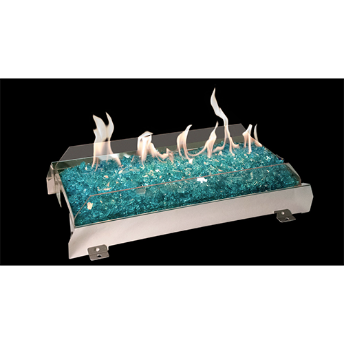 Glass Contemporary See thru vent free gas logs