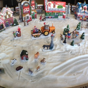 Country Stove Christmas Train