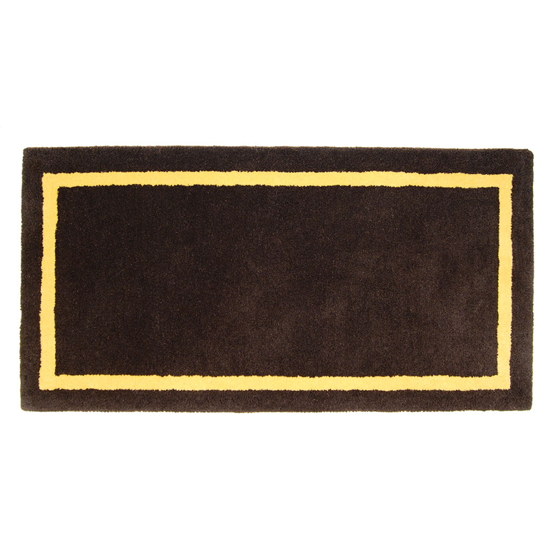 Fireplace Rug Fire Resistant: Deep Taupe Rectangle Hearth Rug