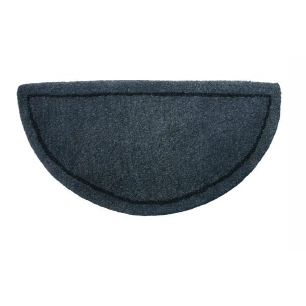 Gray Wool Hearth Rug