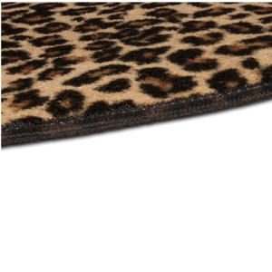 Leopard Hearth Rug Edge Detail