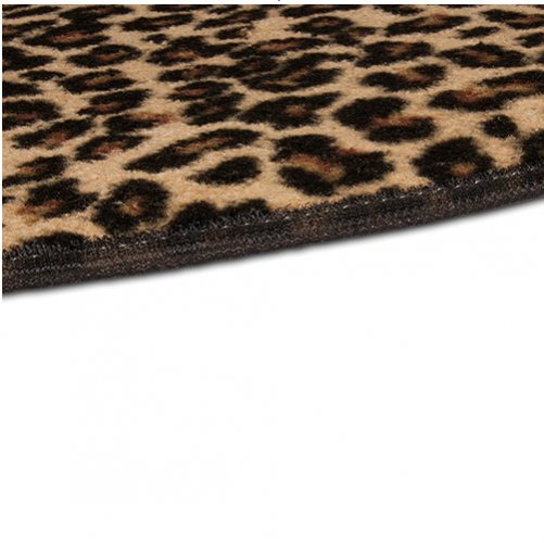 Leopard Hearth Rug Edge Detail