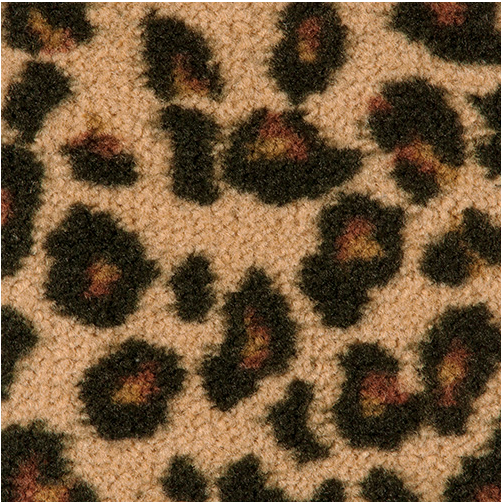 Leopard Fireplace Hearth Rug Flame Resistant Rug