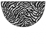 Zebra Fireplace Hearth Rug