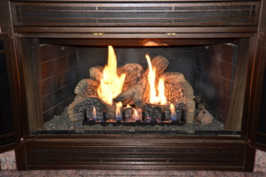 fireplace gas logs country stove patio spa
