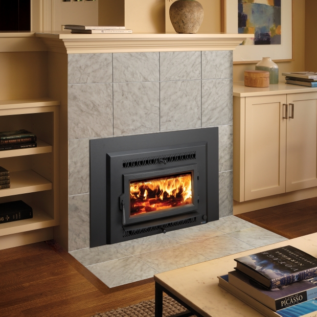 Fireplace Xtrordinair Small Flush Wood Hybrid Fire Insert