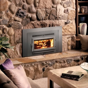 Fireplace Xtrordinair Small Flush Wood Hybrid Fire Wood Insert