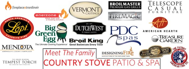 country stove patio and spa brands