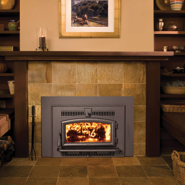 Small Flush Wood Hybrid Fire Insert