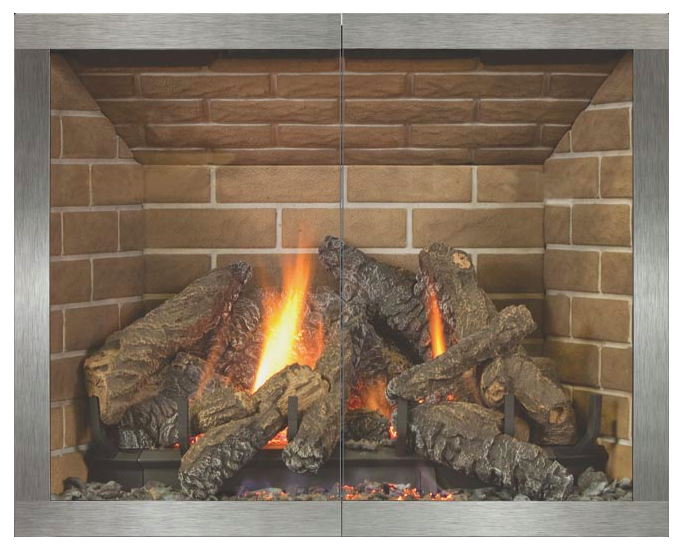 country stove patio stoll manhattan fireplace glass door