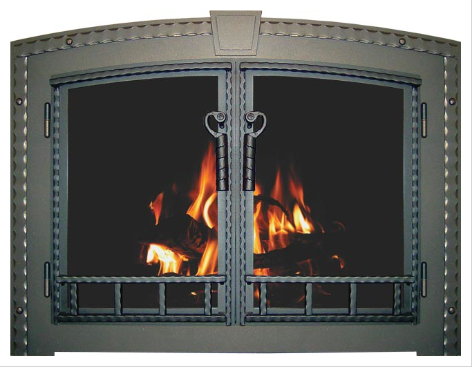 country stove patio still blacksmith fireplace glass door