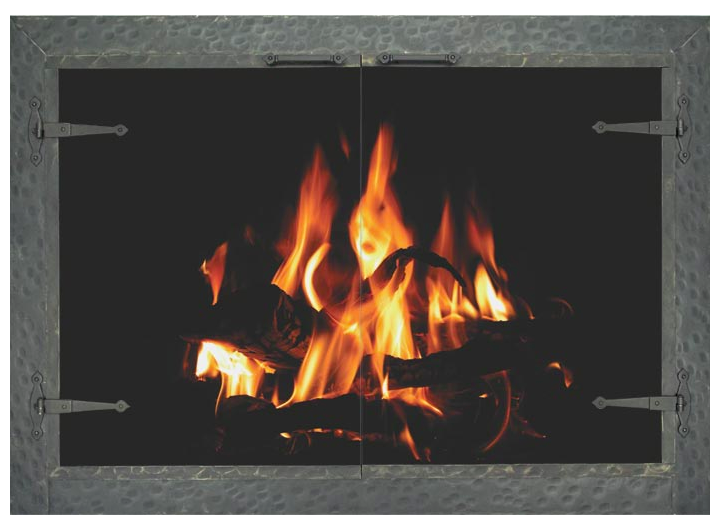 country stove patio stoll forged iron fireplace glass door