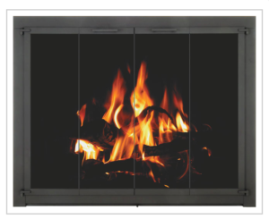 country stove patio spa gas log glass door
