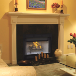 "36"" Wood Fireplace"
