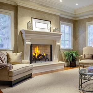 "50"" Wood Fireplace"