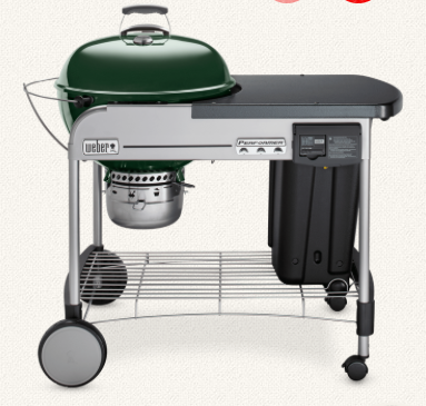 Performer Deluxe 22 Charcoal Grill Green