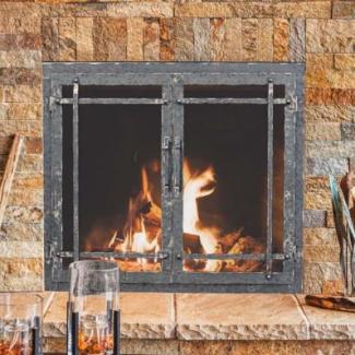 Stoll Masonry Fireplace Glass Doors Cleveland Ohio